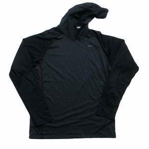 Nike Dri Fit Black Long Sleeve Hooded  Shirt- SZ M